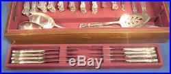 122 pcs Rogers Bros International Silverplate Daybreak Elegant Lady Service 24