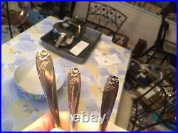 140 pcs silverplate flatware 1847 Rogers Bros IS Daffodil ice tea demitasse etc