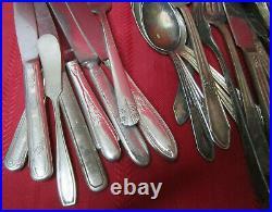 16lb/180 Bulk Lot Silver Plate Utensil Flatware Silverware Serving Rogers Craft
