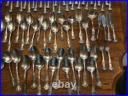171 pcs 1847 Rogers Bros VTG Grape1904 Silver Plated A1/6X Triple Serving Set