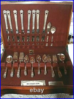 1847 Eternally Yours Set Rogers Silverplate Service for (8) 50 Pieces