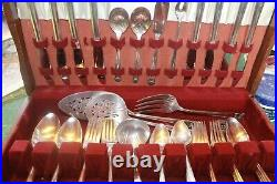 1847 Eternally Yours Set Rogers Silverplate Service for 8 + Serving (58) Pieces