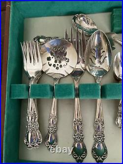 1847 Heritage ROGERS BROS Silver Plate Flatware Set 75 Pieces