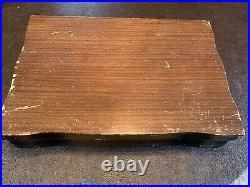 1847 ROGERS BROS 52 pc Silverplate First Love Silverware Flatware in Wood Case