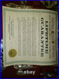 1847 ROGERS BROS 60 pc Silverplate Silverware Flatware in Wood Case