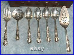 1847 ROGERS BROS HERITAGE SILVERWARE SET Seats 8 + 13 Serving + T. P. Chest 66pc