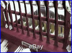 1847 ROGERS VINTAGE GRAPE c. 1904 ART NOUVEAU DINNER SET SERVING PCs CHEST