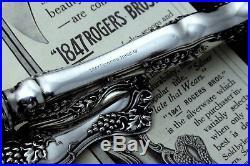 1847 ROGERS VINTAGE GRAPE c. 1904 PIE KNIFE CREAM GRAVY LADLE PIE OLIVE FORK
