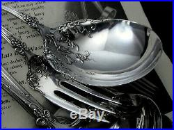 1847 ROGERS VINTAGE GRAPE c. 1904 SOUP N OYSTER LADLE CASSEROLE MEAT FORK