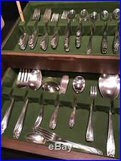 1847 ROGERS silverplate DAFFODIL flatware Set INTERNATIONAL SILVER CO 102 Pcs