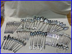 1847 Roger Bros ADORATION Silverware 79 Pcs-8 Pc Place Plus Setting WithBox