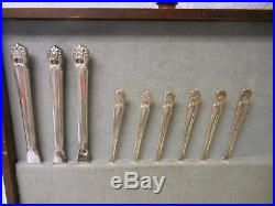1847 Roger Bros. Eternally Yours Silverware Flatware 49 pcs. Silver Plated