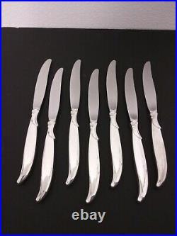 1847 Roger Bros Silver Plate Flatware Set FLAIR Pattern 51 pcs + Original Chest