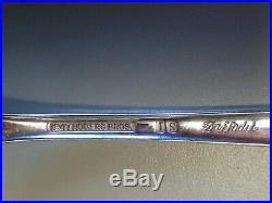 1847 Rogers Bros 106 Piece Daffodil Pattern Silverware Silverplate Flatware