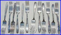 1847 Rogers Bros Ambassador Silverplate Silverware Flatware 75 Piece Set Vintage