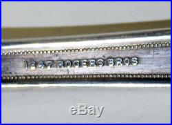 1847 Rogers Bros Ancestral 1924 Pattern Silverplated Silverware Service for 8