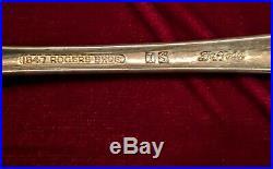 1847 Rogers Bros DAFFODIL 69 Piece Flatware Set Silverplate 8 x 8 settings plus