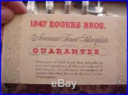 1847 Rogers Bros DAFFODIL Silverplate 54 pcs Original Silver Chest SERV for 8