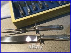 1847 Rogers Bros Daffodil SilverPlate Flatware Set for 8+ Serving Pieces READ