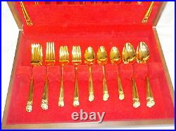 1847 Rogers Bros ETERNALLY YOURS Gooldplate Flatware 52 pc Service for 8 withBox
