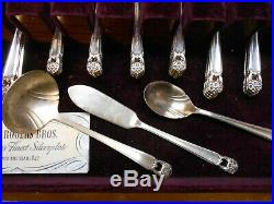 1847 Rogers Bros Eternally Yours IS Silverware Tarnish Resistant Chest 55 Pieces