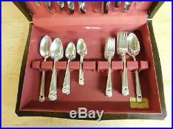 1847 Rogers Bros Eternally Yours Silverplate Flatware 52 Pieces with Chest