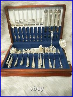 1847 Rogers Bros Heritage Silverware Flatware 55 Pc. Beautiful Set