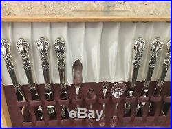1847 Rogers Bros Heritage Silverware Flatware 63 Piece Service 8 Hostess Set 7pc