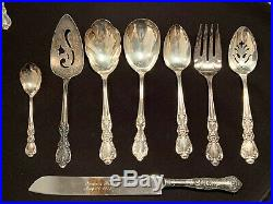 1847 Rogers Bros Heritage Silverware Plated 52 Piece + 3 Extra Serving -Read