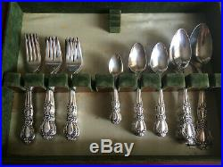 1847 Rogers Bros Heritage Silverware Set In Tarnish-proof Chest 65 Pc Total