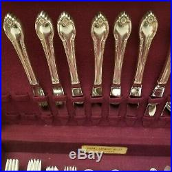 1847 Rogers Bros IS REMEMBRANCE 52 Pc Set for 8 Silverplate Silverware Flatware