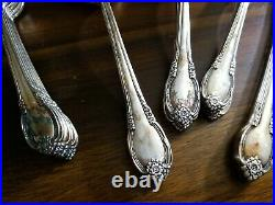 1847 Rogers Bros IS Silverware Set Remembrance 52 Piece withChest