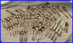 1847 Rogers Bros I S Heritage 73 Pc Set Service For 8+Extras Silverware (plated)