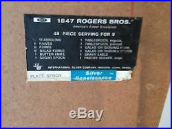 1847 Rogers & Bros Rare Antique Silver Renaissanse Silverware in box
