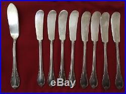 1847 Rogers Bros Remembrance Sliver Plate 115 Pcs Silverware Vintage Flatware
