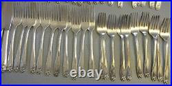 1847 Rogers Bros Silver plate flatware DAFFODIL SET 54P gumbo spoons