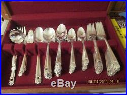 1847 Rogers Bros Silverplate Flatware ETERNALLY YOURS 100 pc set for 12 +serving