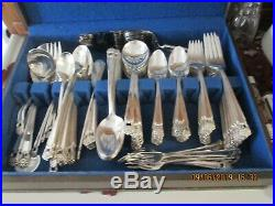 1847 Rogers Bros Silverplate Flatware ETERNALLY YOURS 108 pc set for 12 +serving