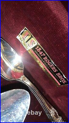 1847 Rogers Bros Silverplate/Silverware 91 PCs Set Vintage W Oak Wooden Box