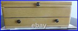 1847 Rogers Bros Silverplate Silverware Flatwear Heritage Pattern Service 8 Box