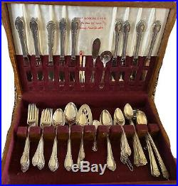 1847 Rogers Bros Silverware Set in Original Box 75 pieces