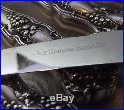 1847 Rogers Bros VINTAGE Grape Set of 6 HH Fruit Knives 6 3/4 withBox 1904 EX
