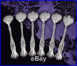 1847 Rogers Bros VINTAGE Grape Set of 6 ICE CREAM Forks 5 3/8 1904 EX