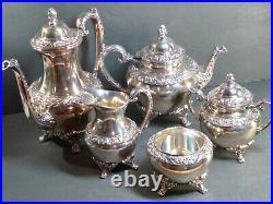 1847 Rogers Brothers Heritage 5 Pc Tea / Coffee Set Very Impressive