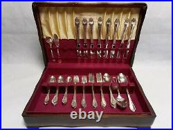 1847 Rogers Brothers Remembrance 50 Pc Silverware Flatware In Wood Box