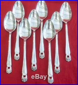 1847 Rogers Eternally Yours Silverplate Deco Neoclassic For 8 Orig Case 47pc Euc