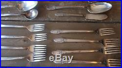 1847 Rogers FIRST LOVE Service For 12 78 Pieces Silverplate Flatware Set