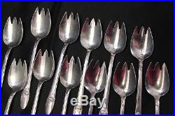 1847 Rogers First Love Ice Cream Forks Silverplate 5.25 Set of 12