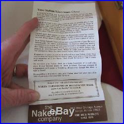 1847 Rogers First Love Silverplate 76 Piece Set Flatware in NAKEN No Tarnish Box