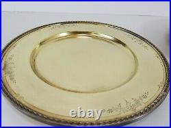 1847 Rogers Golden Argosy 10.5 Dinner Plates 6pcs International Silver 1926